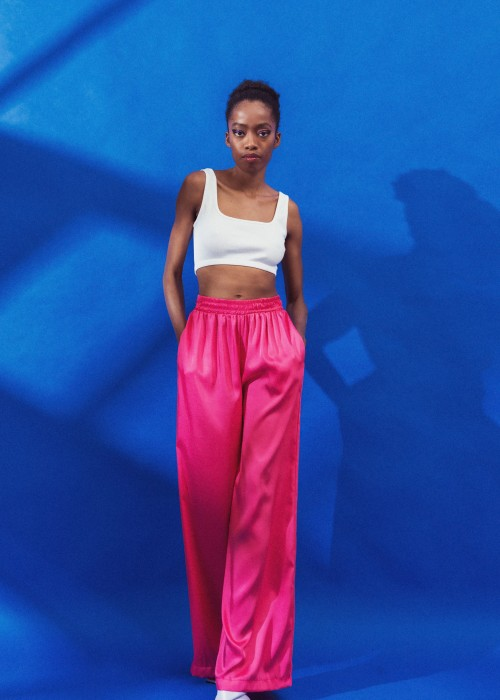 Flowing Trousers - Fucsia