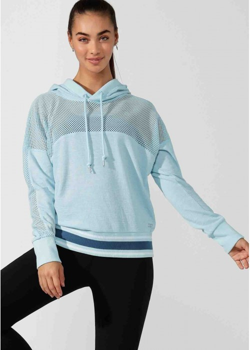 Workout Mesh Cropped Hoodie
