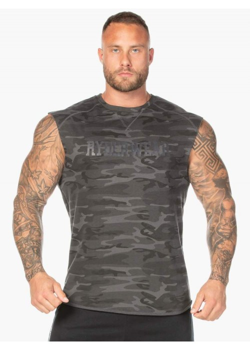 Camo Fleece Tank - Black Camo