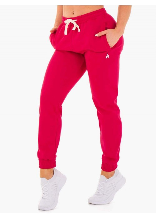 Block Track Pants - Cherry Red