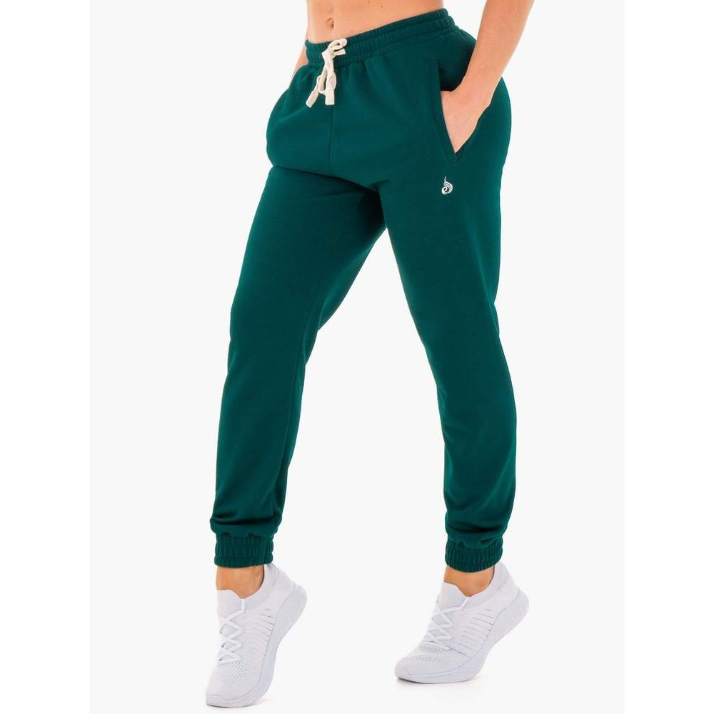 Block Track Pants - Forest Green