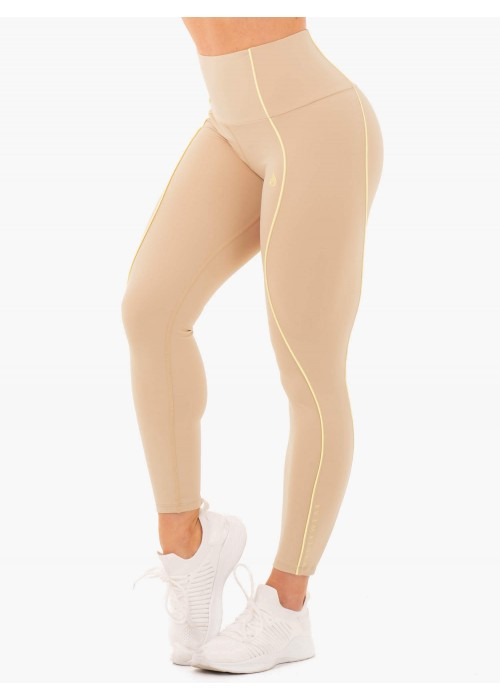 Glow High Waisted Legging - Latte