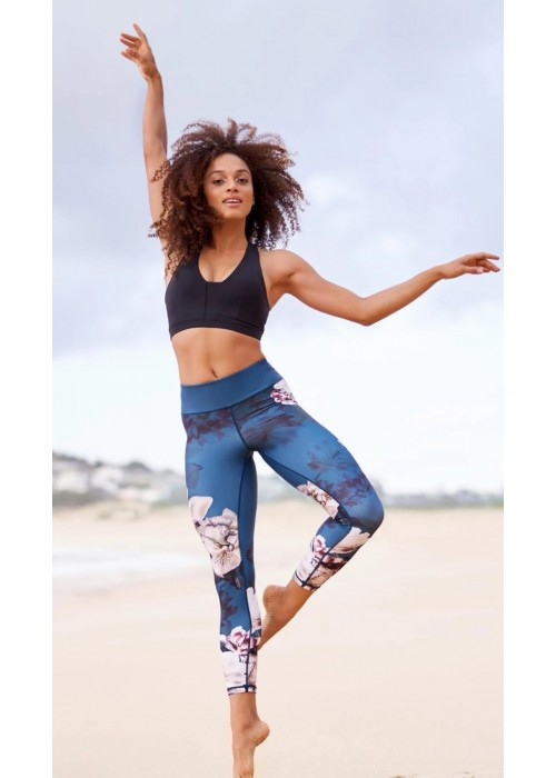 Moonflower High Waist Printed Yoga Legging - 7/8