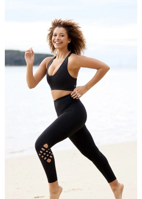 Diamond Barre Yoga Legging - Black