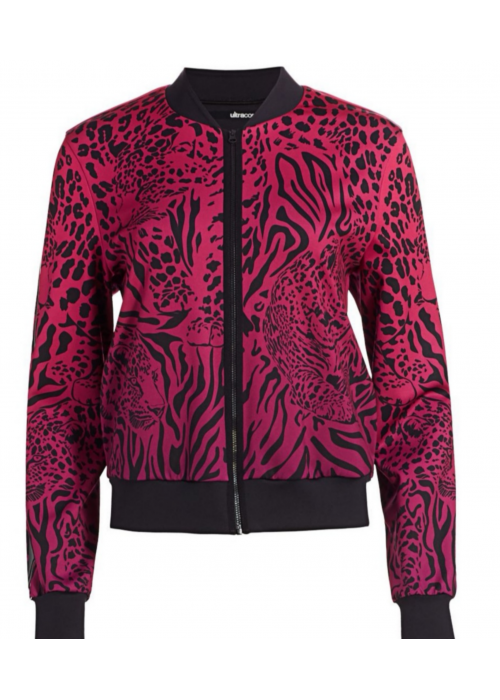 Stealth Panthera Bomber Jacket Gradient Fuschia